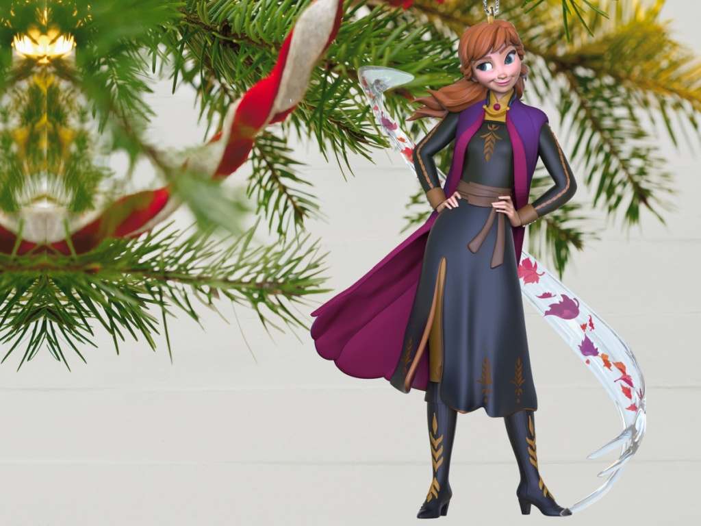anna from frozen 2 christmas ornament