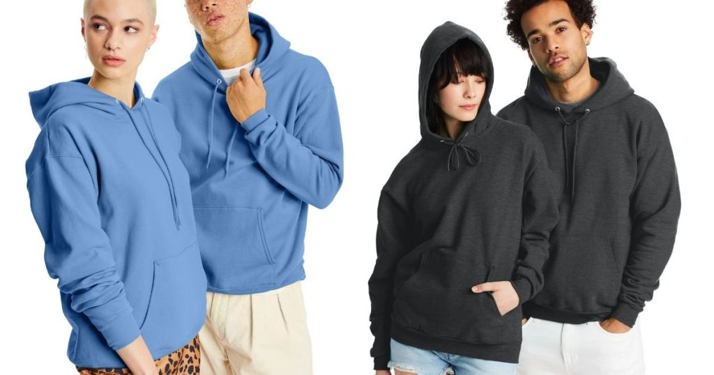 2 couples in Hanes Sweatshirts