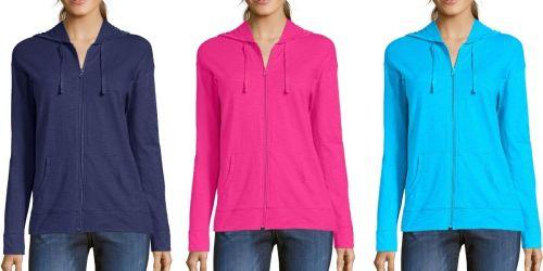 Hanes Women's Jersey Full-Zip Hoodies Only $7 on Amazon (Regularly $12)