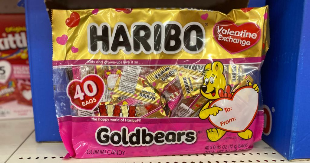 gummy bear valentine's exchange bags