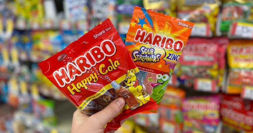 hand holding gummy candies