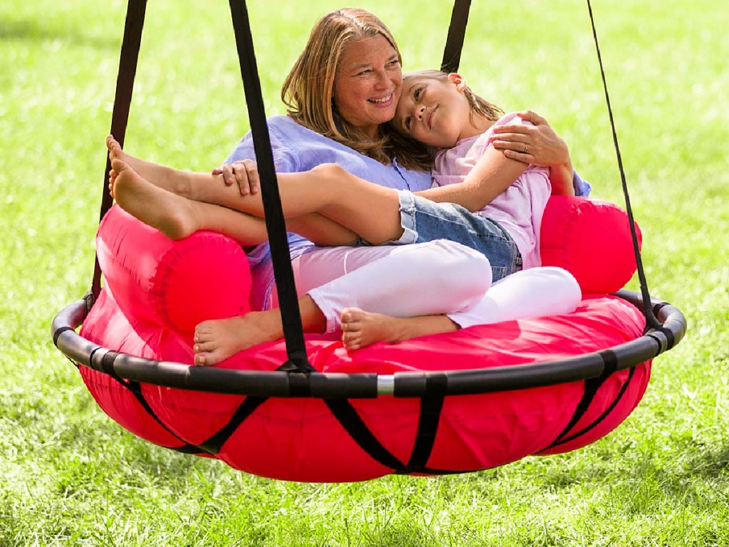 HearthSong Red & Black Cozy Cushion Swing