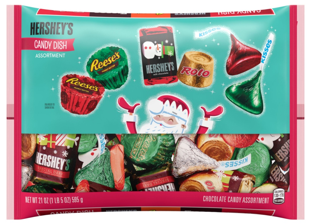 Hershey's Assorted Miniatures Candy, Holiday Candy Bag 21-Ounce