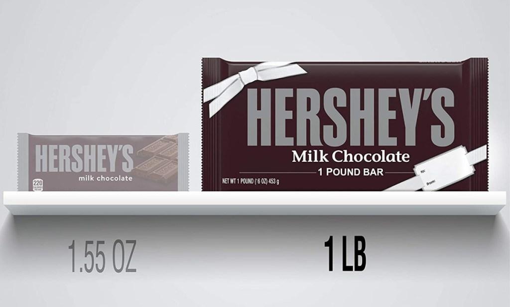 Hershey's Milk Chocolate Candy 1-lb Bar