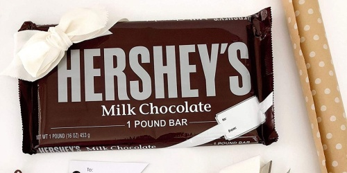 Hershey's Milk Chocolate 1-Pound Candy Bar Only $6.77 on Amazon | Great For Valentine's Day or Easter Baskets