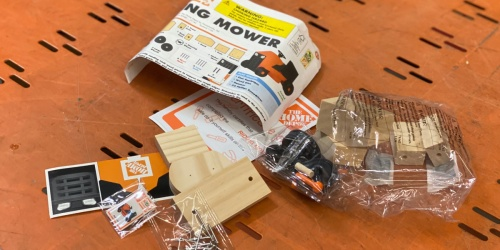FREE Kids DIY Wooden Riding Mower at Home Depot