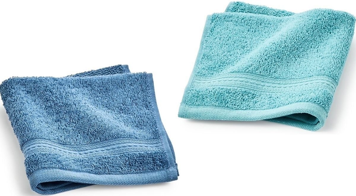 Two Home Design Washcloths
