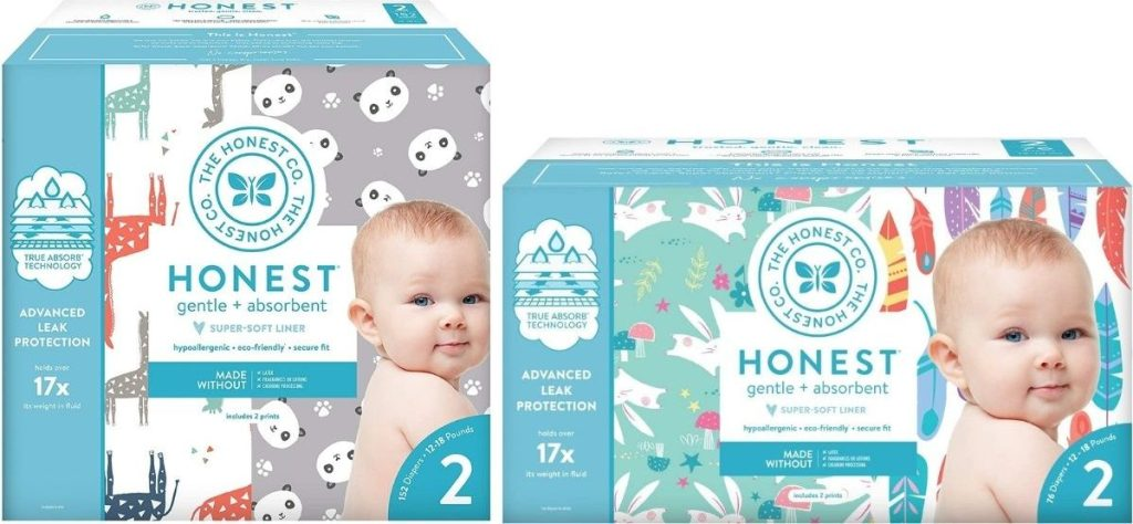 Honest Company Size 2 and 3 diapers