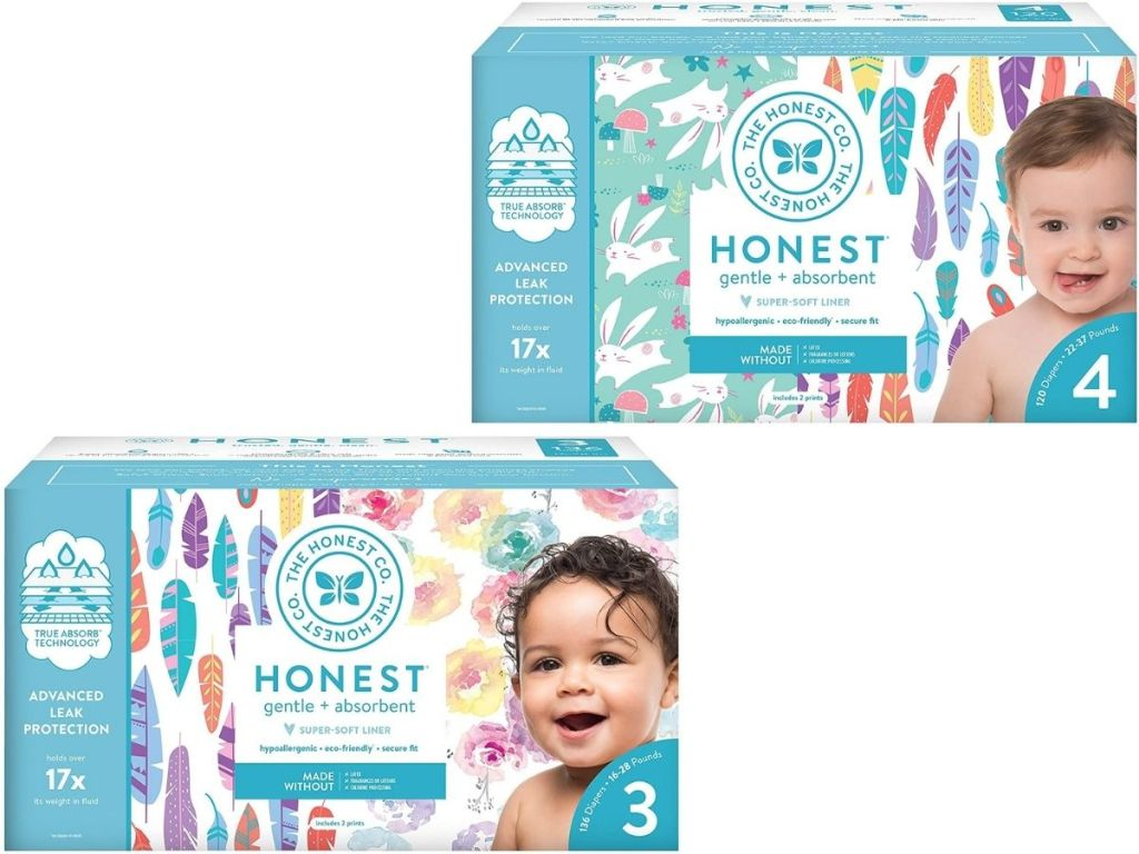 Honest Company Size 3 and 4 diapers