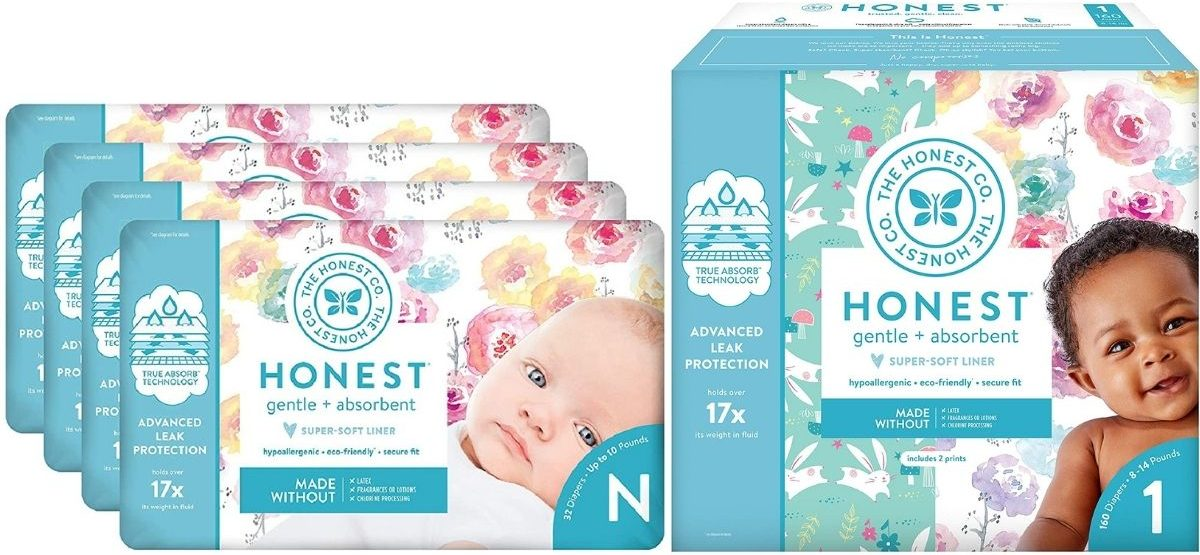 Honest Company Diapers for Newborns or Size 1