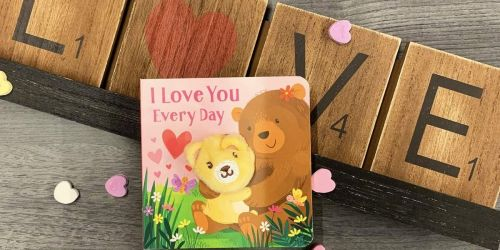 I Love You Every Day Finger Puppet Board Book Only $5.41 on Target.com | Cute Valentine's Gift
