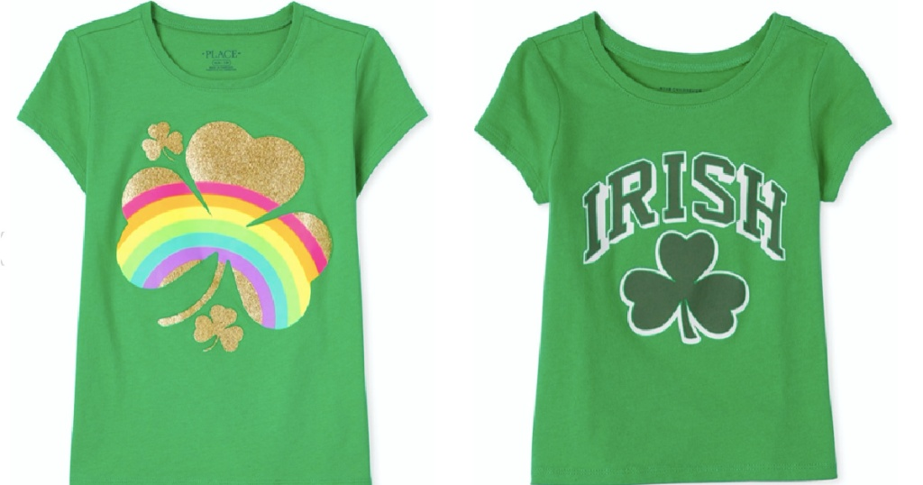 St Oaddy's Day Irish Tshirts from The Children's Place