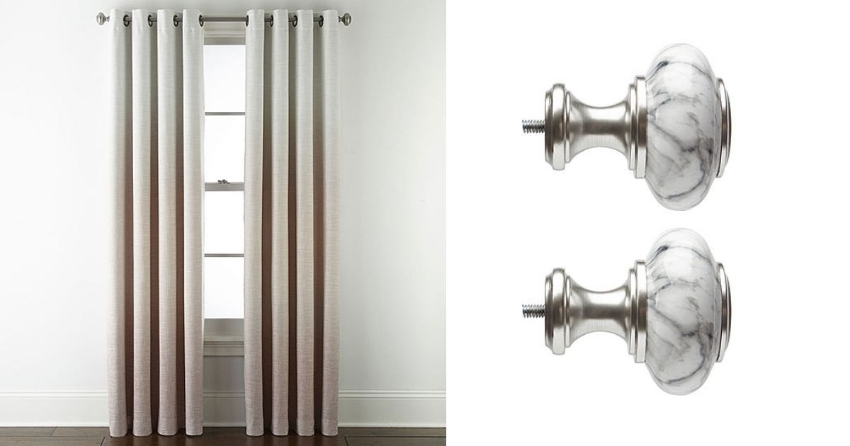 Tan JCP Home Ombre and Finials