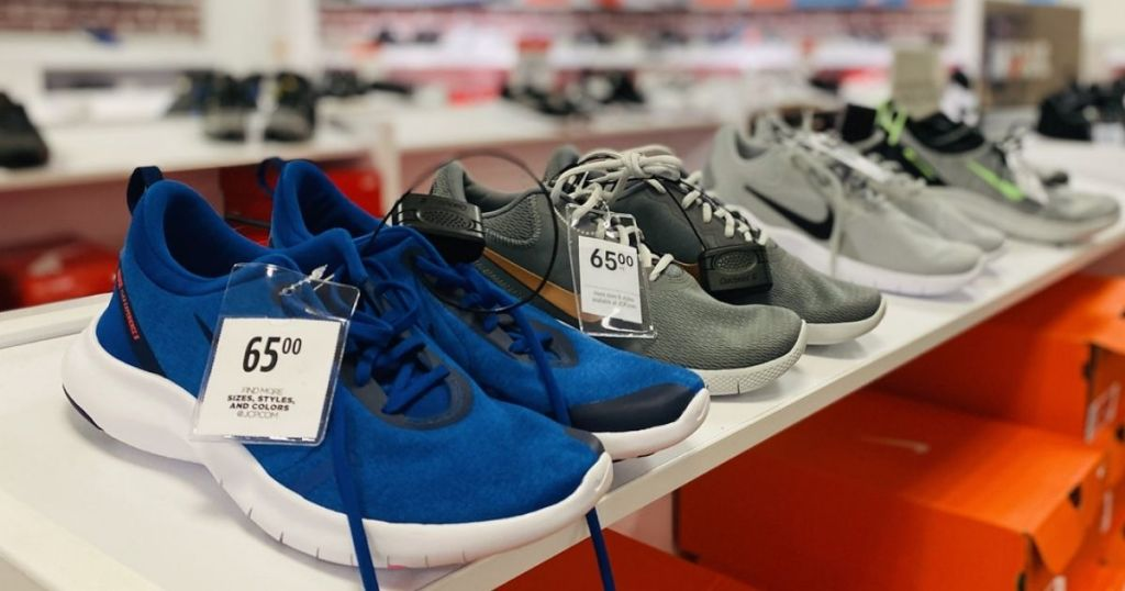 JCP Nike Running Shoes on display in-store