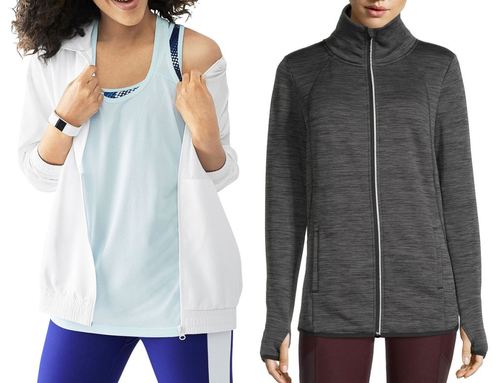 two women modeling xersion activewear outfits