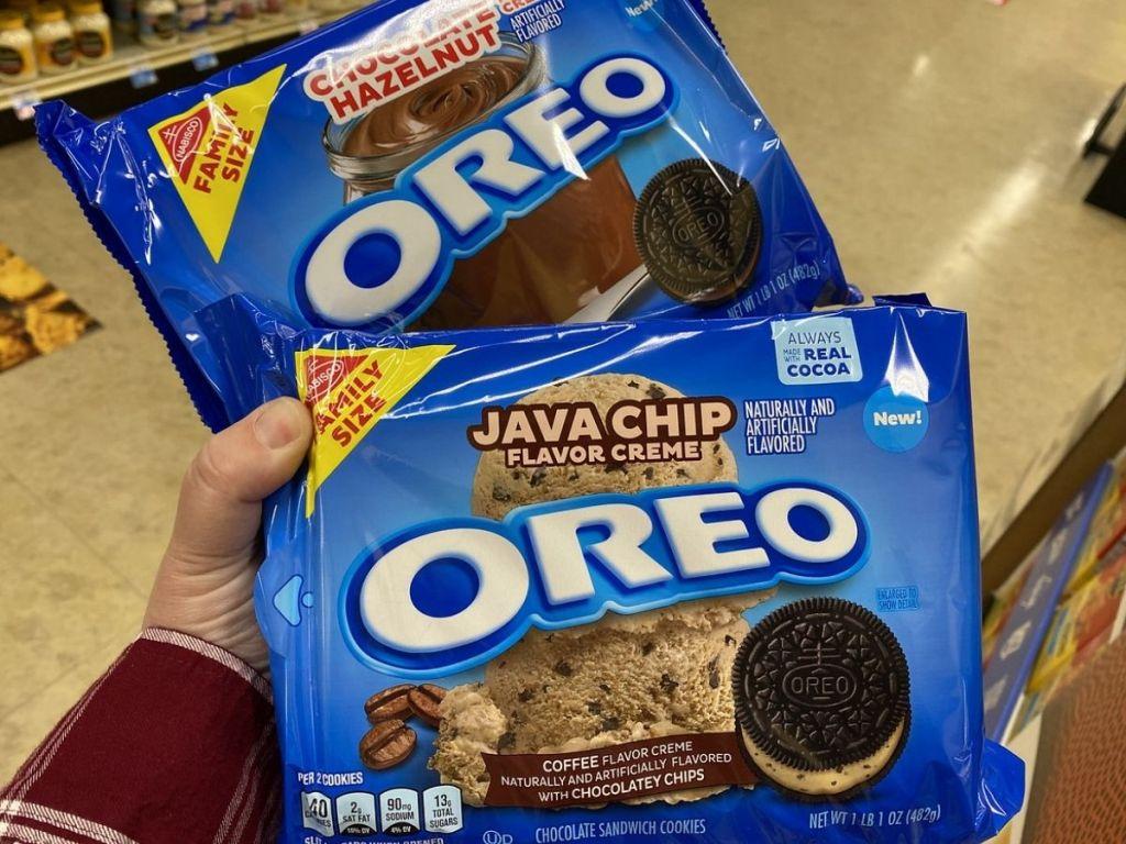 Chocolate Hazelnut and Java Chip Oreos