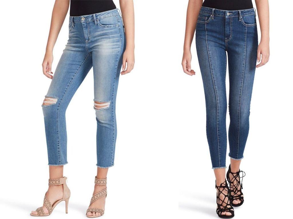 women wearing ankle jeans