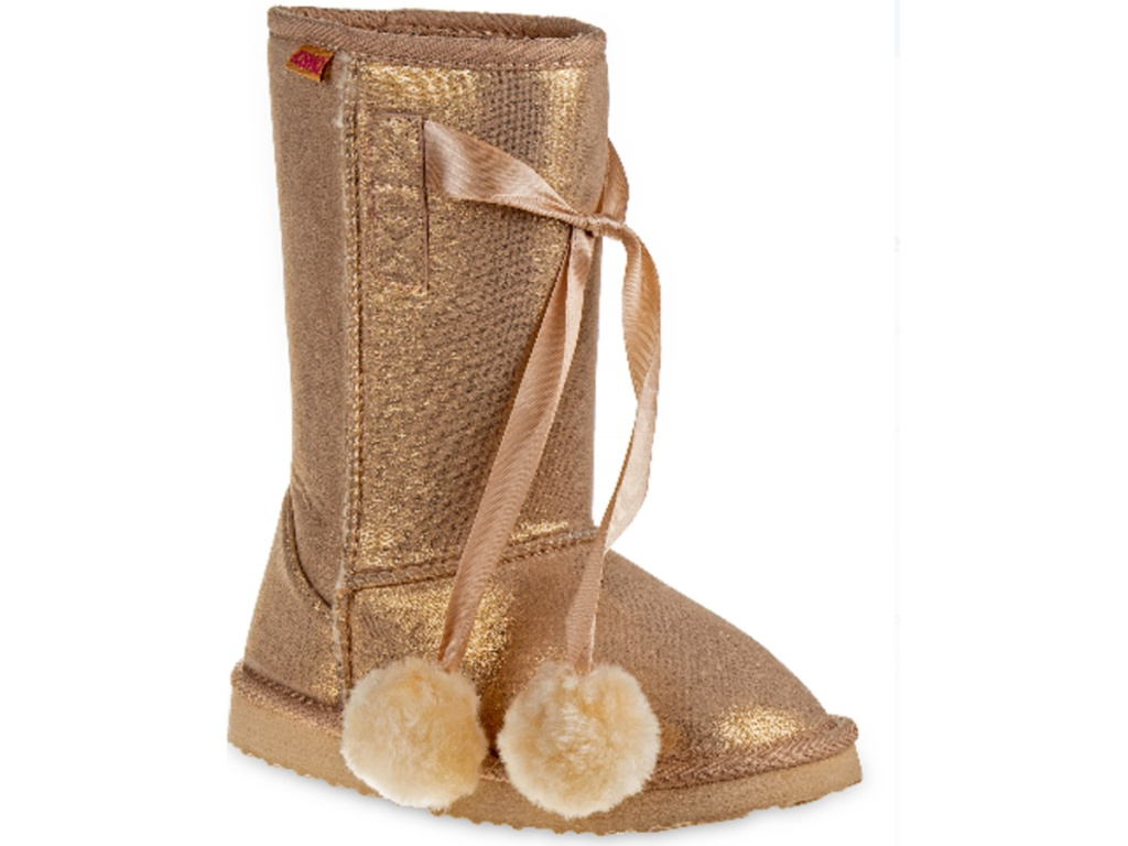 Josmo Pom Pom Faux Shearling Mid Calf Winter Boots