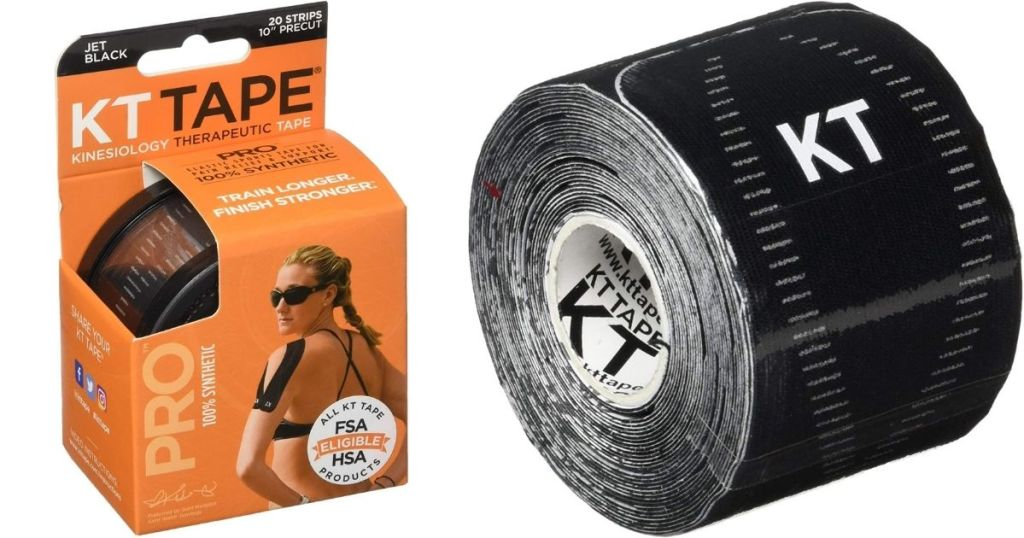 KT Tape packaging and tape
