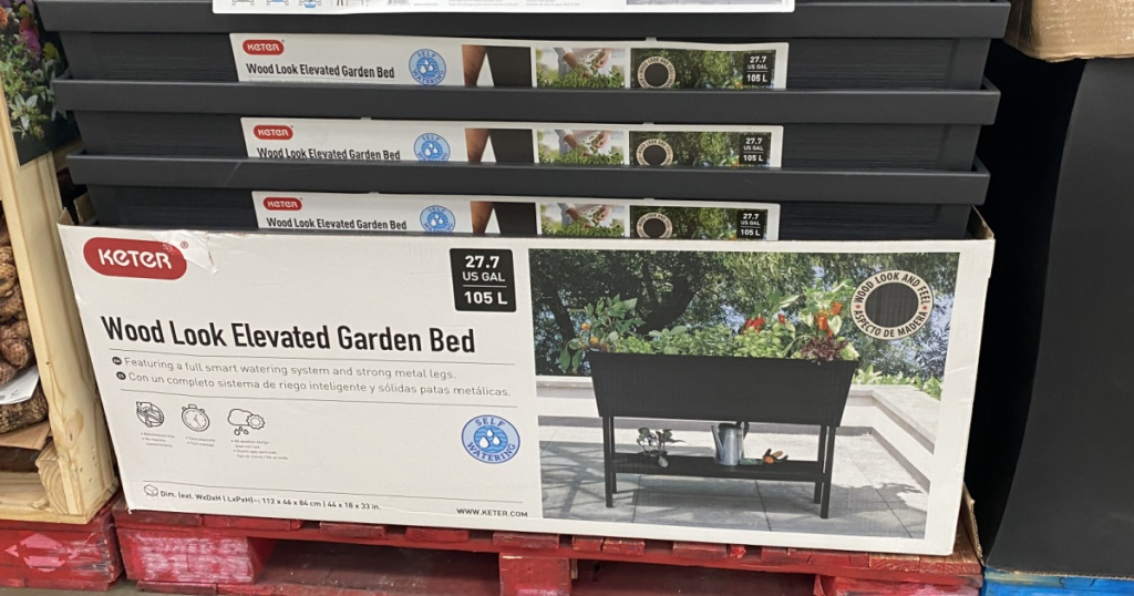 Garden bed in the store on display