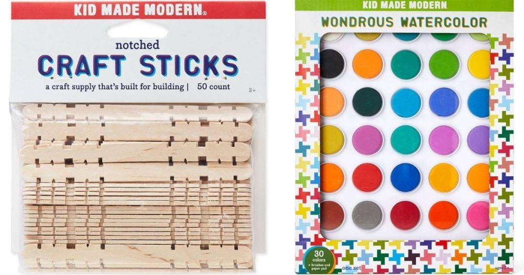 Kid Made Modern Craft Sticks and Paint