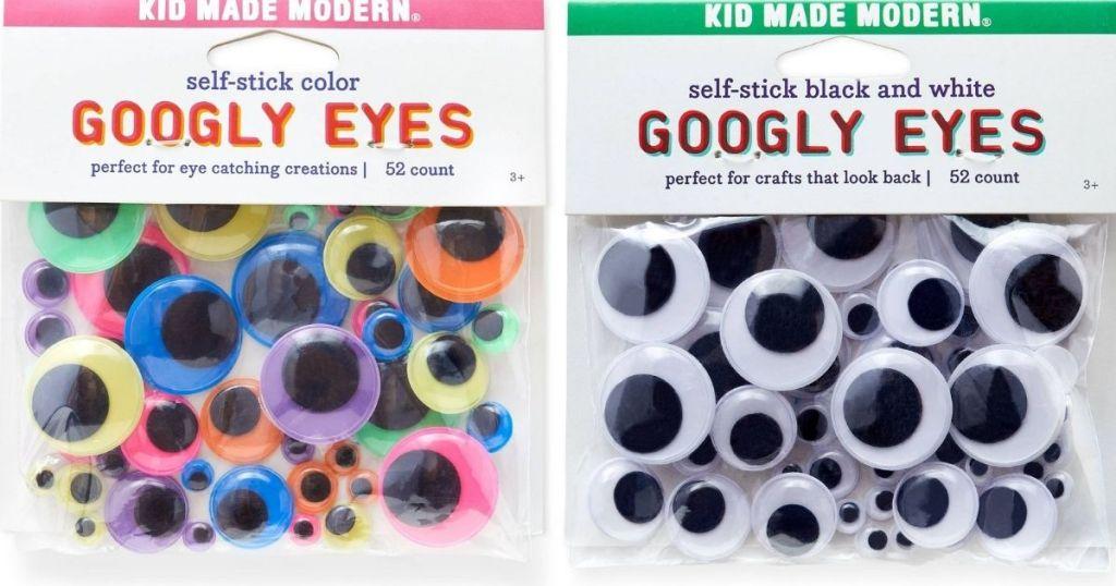 two packs of Kid Made Modern Googly Eyes