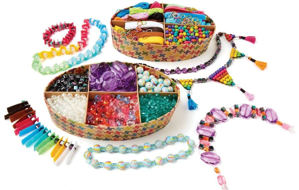 two boxes with jewelry crafting supplies