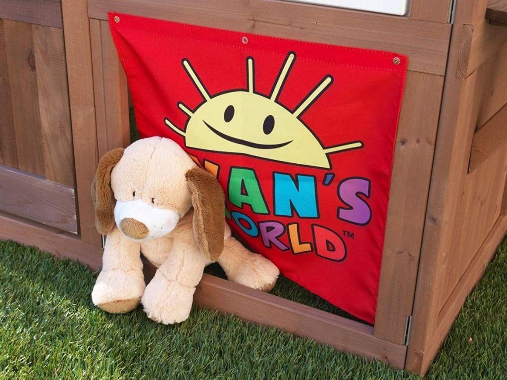 KidKraft Ryan's World Playhouse Doggie Door w/ stuffed pup