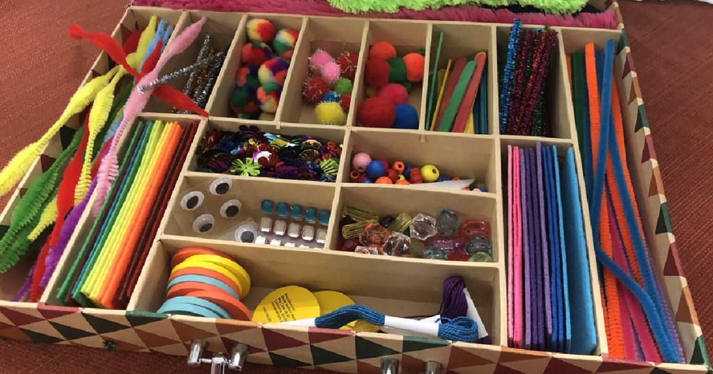 Kids made modern craft box