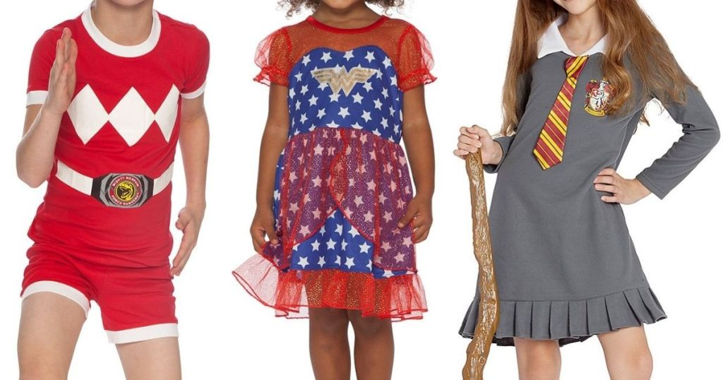three kids wearing pajamas