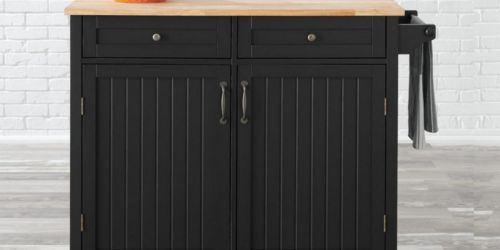 Kitchen Cart w/ Butcher Block Top Just $186.75 Shipped on HomeDepot.com (Regularly $249)