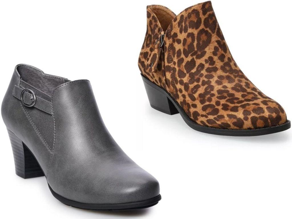 two women's booties