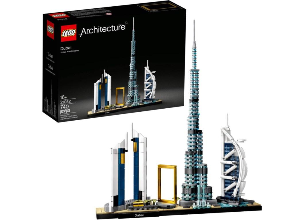 building a LEGO Architecture Skylines: Dubai 21052 Building Kit