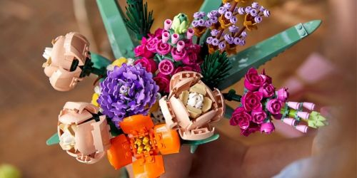 This LEGO Flower Bouquet Will Last Forever & Makes a Great Gift