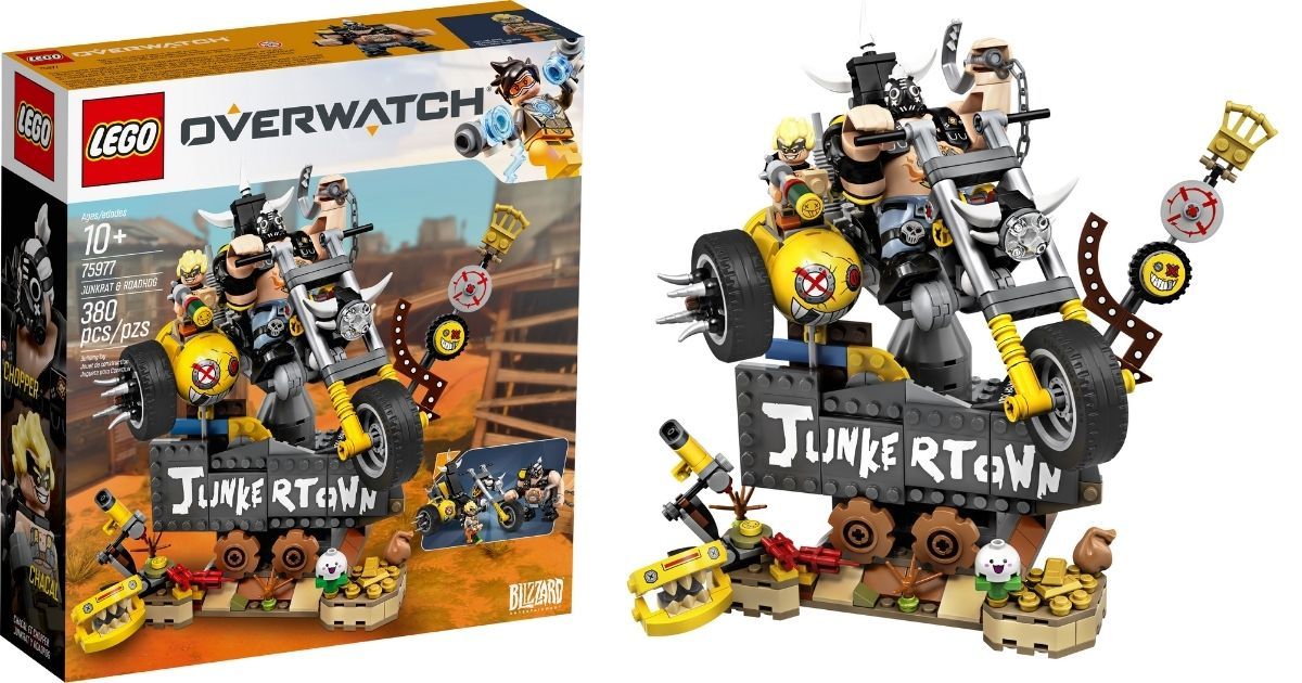 completed LEGO Overwatch Junkertown Set with packaging
