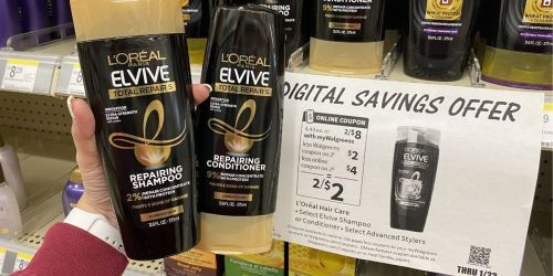 L'Oréal Elvive Shampoo or Conditioner Just 89¢ Each on Walgreens.com