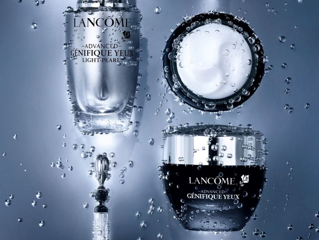 two bottles of Lancome products