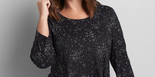 Lane Byrant Women's Plus-Sized Tops Just $10 (Regularly up to $50)