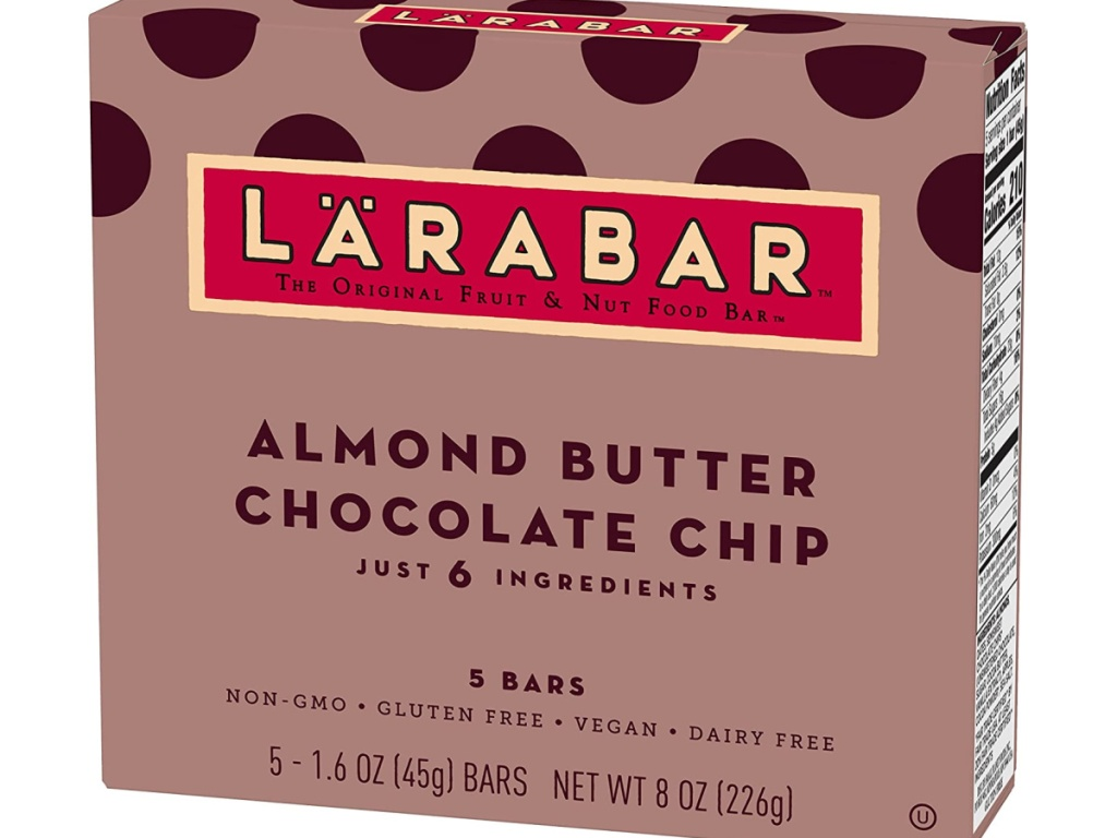 Larabar Fruit and Nut Bar Almond Butter Chocolate Chip 40-Count