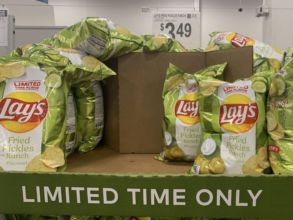 Sam's Club Has New Lay's Chips, Including a Fried Pickles w/ Ranch Flavor!