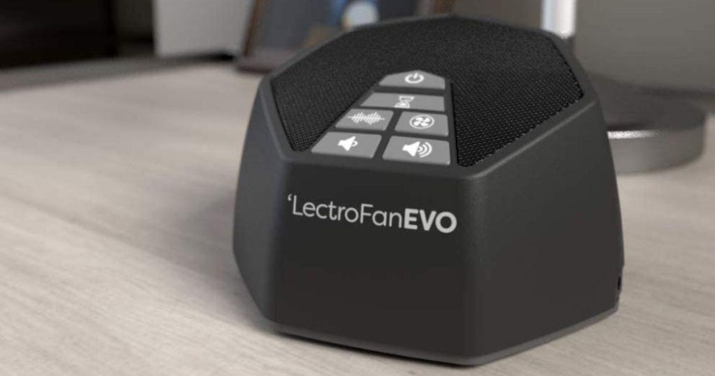 LectroFan EVO on a nightstand