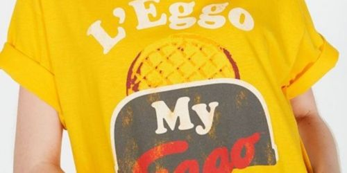 Juniors Graphic Tees Only $5 on Walmart.com   Eggo, Back to the Future, & More