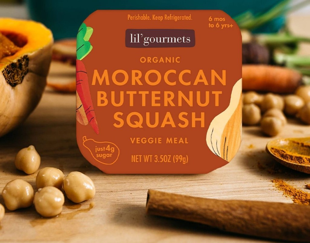Lil Gourmets Moroccan Butternut Squash meal