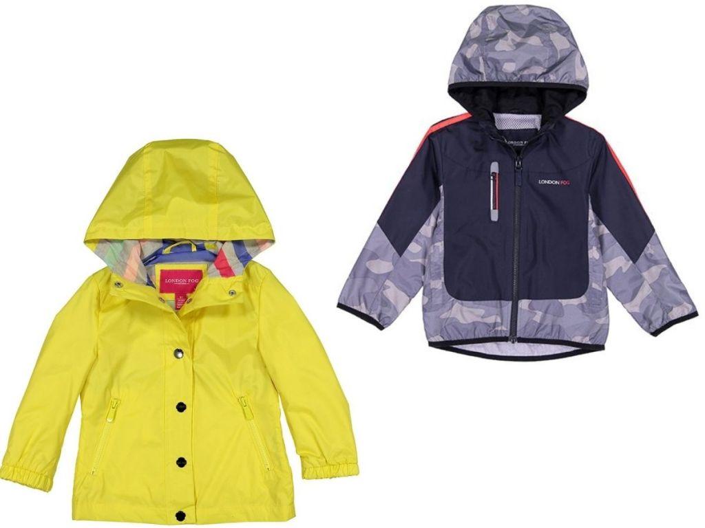 Two kids rain coats