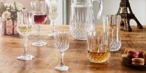 Martha Stewart or Longchamp Glassware Sets Just $9.99 on Macys.com (Regularly $30)