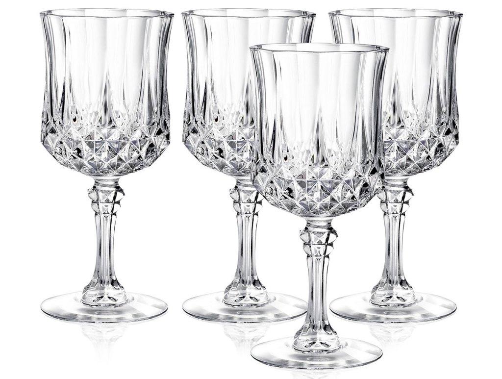 set of four crystal goblets