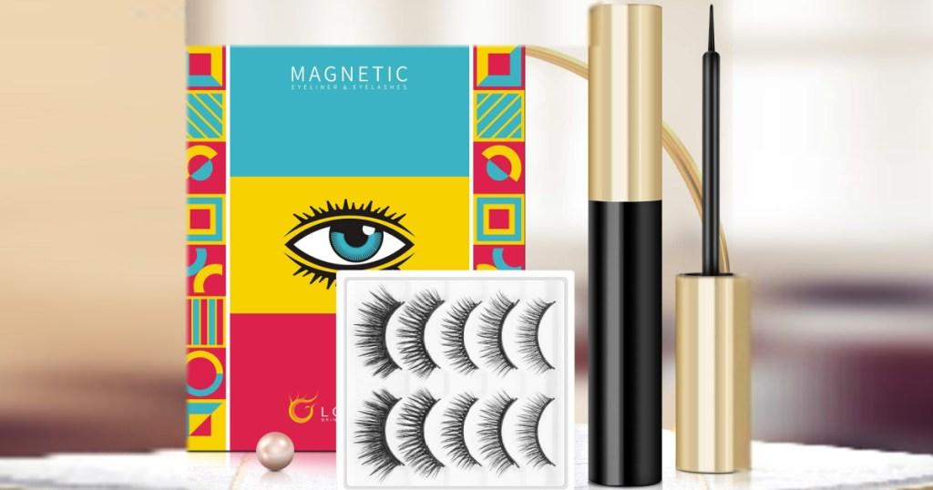 Lorchar 5-Count Magnetic Eyelashes & Eyeliner Kit
