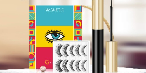 Magnetic Eyelashes Kit Only $10.95 on Amazon | Waterproof & Easy to Apply