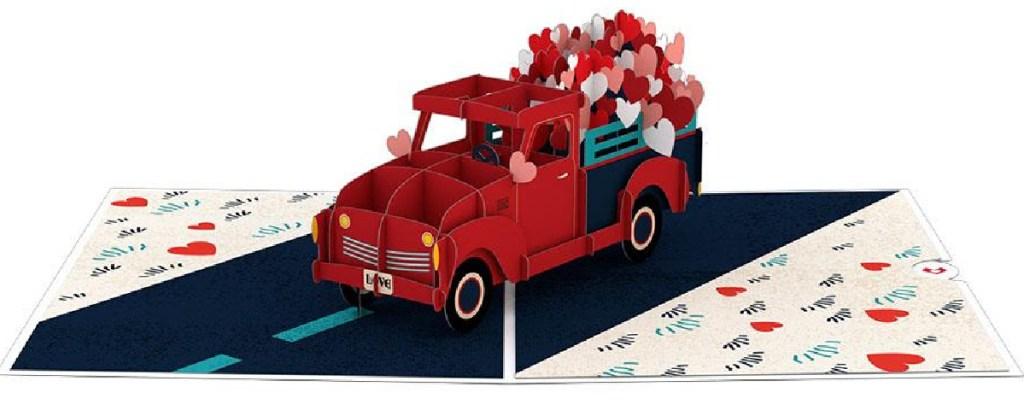 Truck themed pop up card