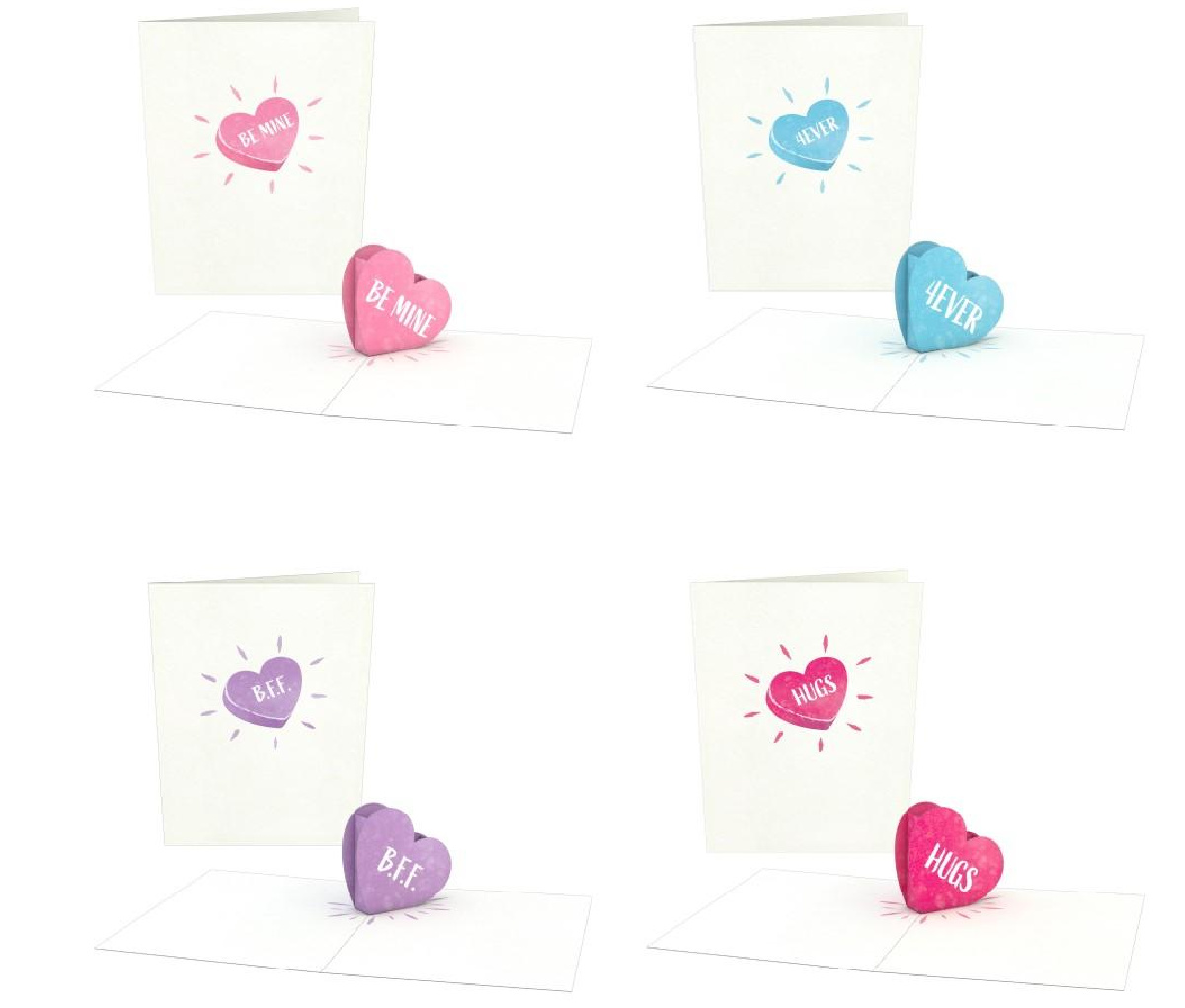 4 count Valentine's themed Lovepop cards